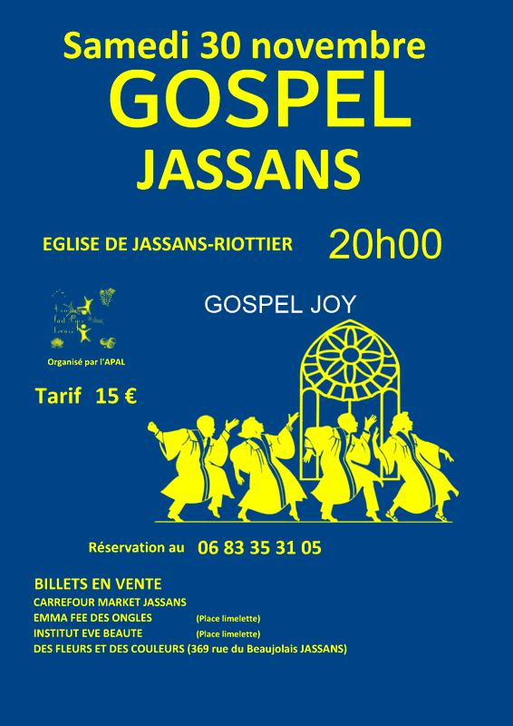 affiche concert jassans et GJ bleue